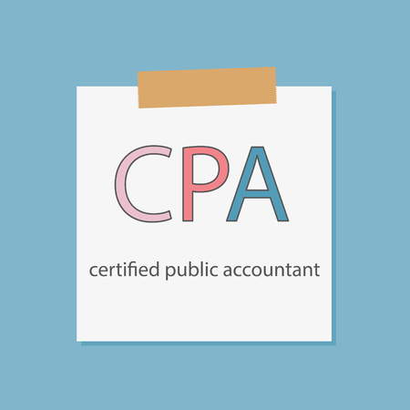 CPA Certified Public Accountant written in a notebook paper- vector illustration