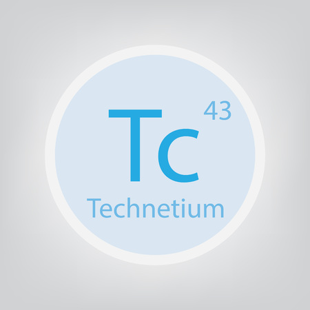 Technetium Tc chemical element icon- vector illustration 일러스트