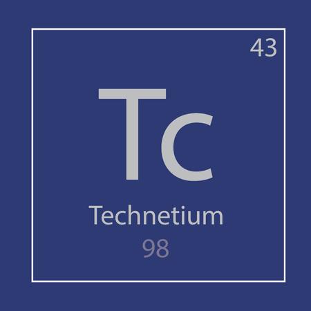Technetium Tc chemical element icon- vector illustration Ilustração