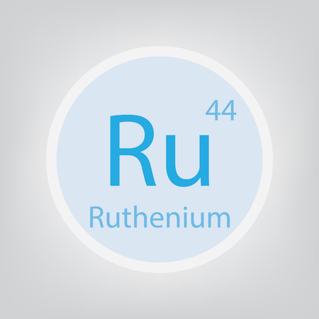 Ruthenium Ru chemical element icon- vector illustration 일러스트