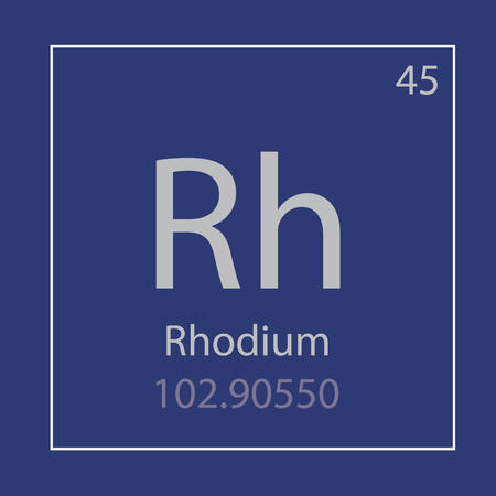 rhodium RH chemical element icon- vector illustration Illusztráció
