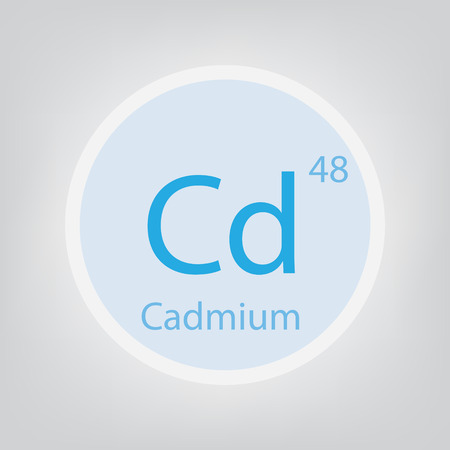 Cadmium Cd chemical element icon- vector illustration Ilustração