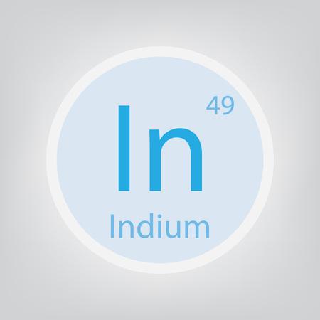 Indium In chemical element icon- vector illustration Banco de Imagens - 102165094