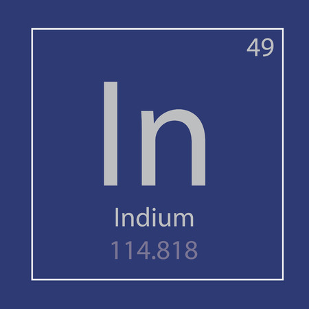 Indium In chemical element icon- vector illustration Иллюстрация