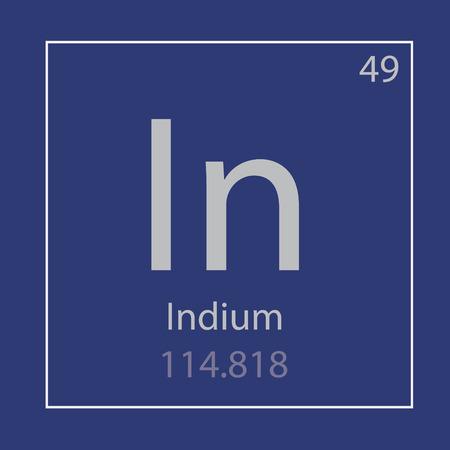 Indium In chemical element icon- vector illustration Ilustração