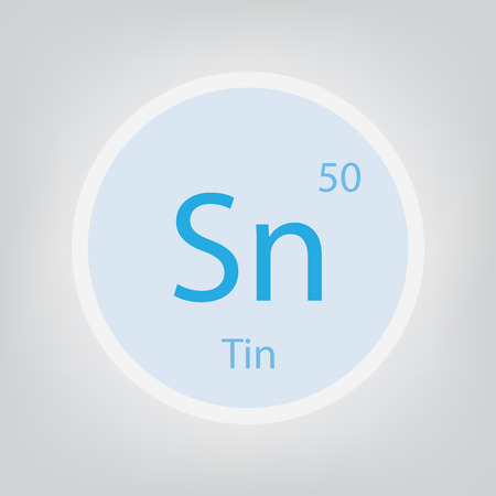 Tin Sn chemical element icon- vector illustration