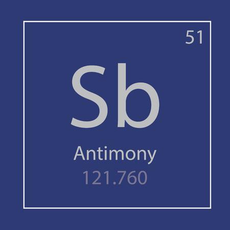Antimony Sb chemical element icon- vector illustrationAntimony Sb chemical element icon- vector illustration