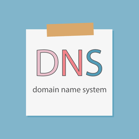DNS Domain Name System written in a notebook paper- vector illustration 向量圖像