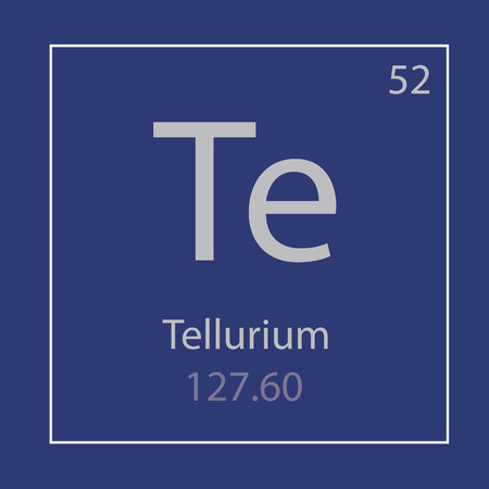 Tellurium. Te chemical element icon- vector illustration