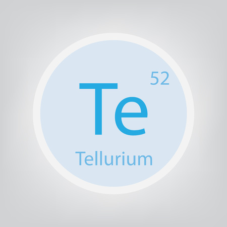 Tellurium. Te chemical element icon- vector illustration