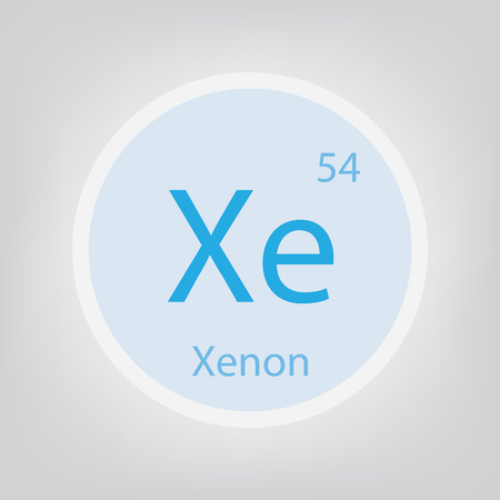 Xenon Xe chemical element icon- vector illustration