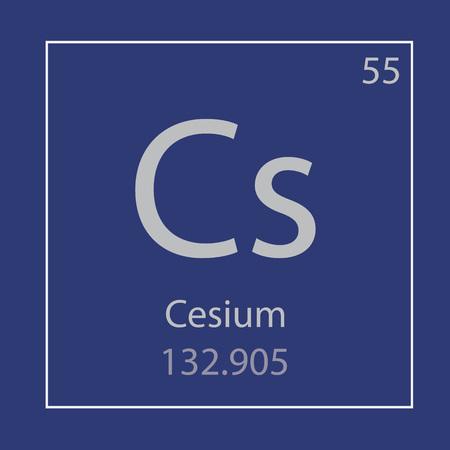 Caesium Cs chemical element icon- vector illustration