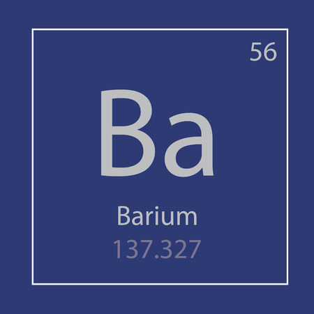 Barium Ba chemical element icon- vector illustration 일러스트