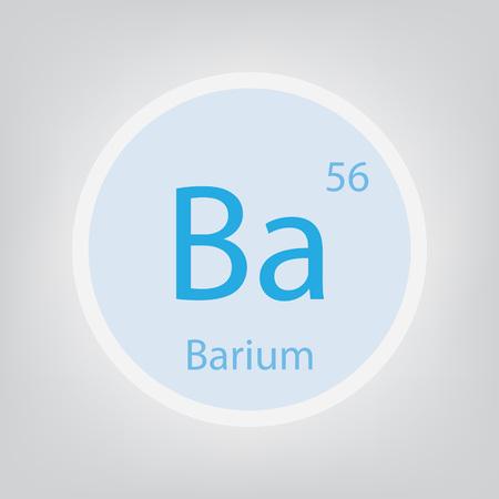 Barium Ba chemical element icon- vector illustration Ilustração