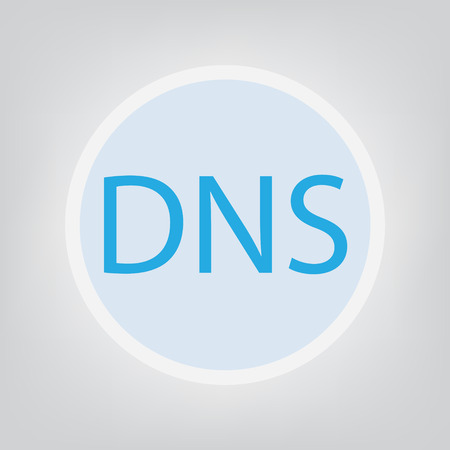DNS (Domain Name System) concept- vector illustration 向量圖像