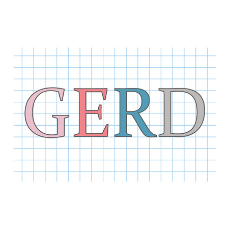 GERD (Gastroesophageal Reflux Disease) written on checkered paper Illustration