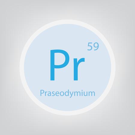 Praseodymium Pr chemical element icon- vector illustration Banco de Imagens - 103005047