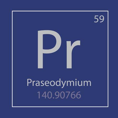 Praseodymium Pr chemical element icon- vector illustration Banco de Imagens - 103023153
