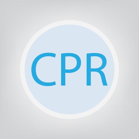 CPR (Cardiopulmonary Resuscitation) concept- vector illustration Ju Illustration