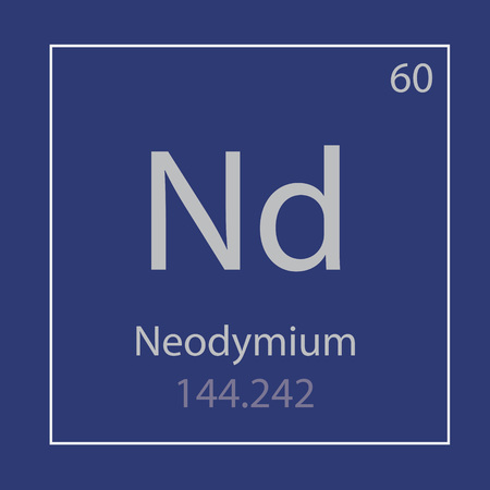 Neodymium Nd chemical element icon- vector illustration