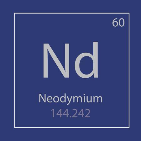 Neodymium Nd chemical element icon- vector illustration Banco de Imagens - 103071412