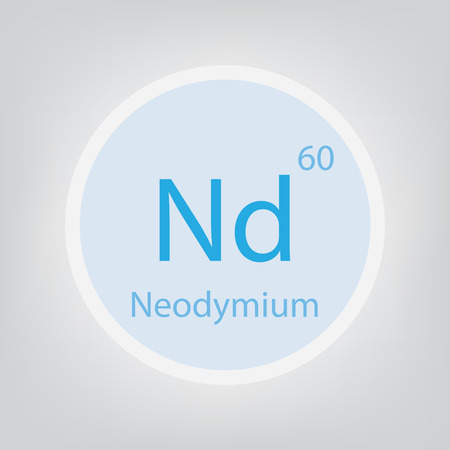 Neodymium Nd chemical element icon- vector illustration Banco de Imagens - 103080939