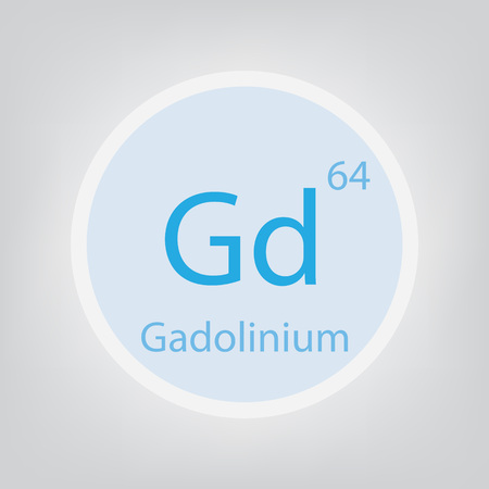 Gadolinium Gd chemical element icon- vector illustration