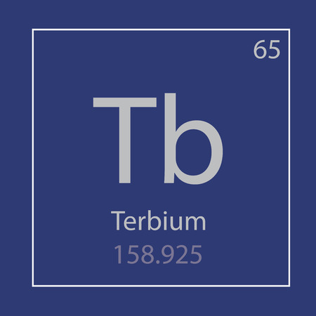 Terbium Tb rare metal chemical element icon- vector illustration