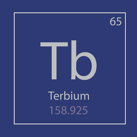 Terbium Tb rare metal chemical element icon- vector illustration Banco de Imagens - 103985617