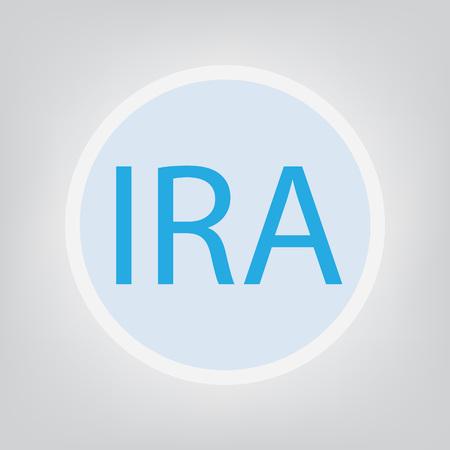 IRA (Individual Retirement Account) - vector illustration
