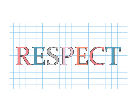 respect concept- vector illustration Çizim