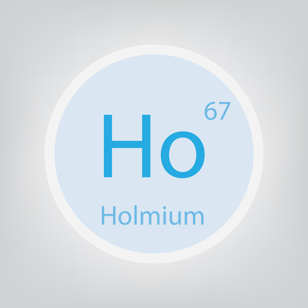 Holmium Ho chemical element icon- vector illustration Иллюстрация