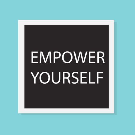 empower yourself concept- vector illustration