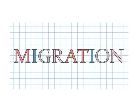 migration concept- vector illustration