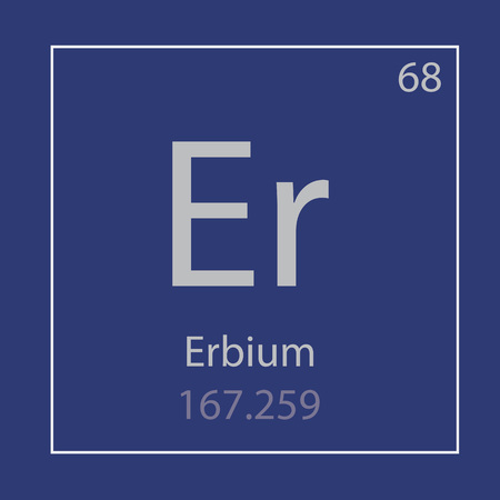 Erbium Er chemical element icon- vector illustration