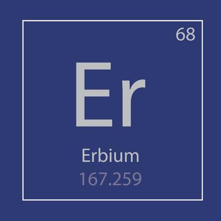 Erbium Er chemical element icon- vector illustration