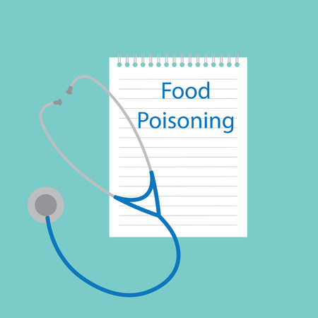 food poisoning written in notebook- vector illustration Illustration