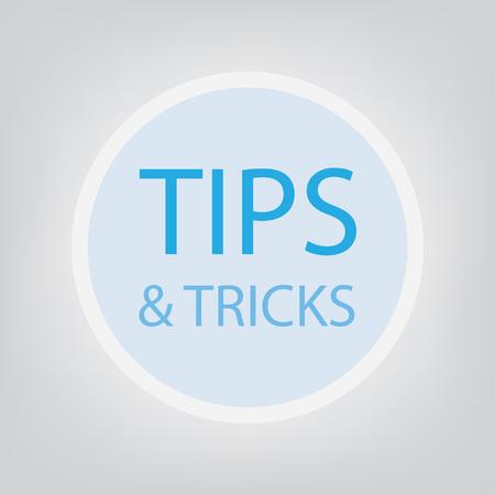 tips tricks concept illustration