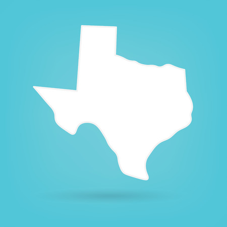 abstract white map of Texas- vector illustration Ilustração