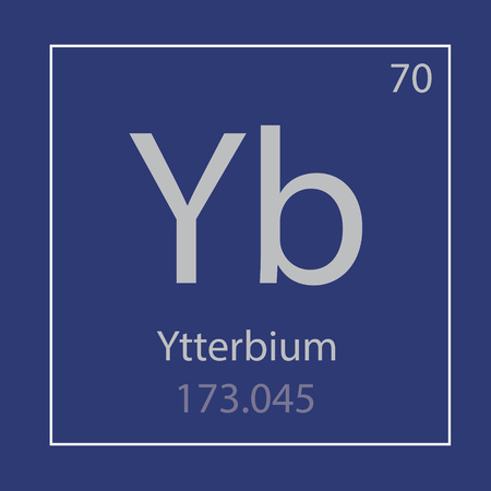 Ytterbium Yb chemical element icon- vector illustration