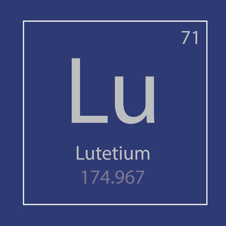 Lutetium Lu chemical element icon- vector illustration 일러스트