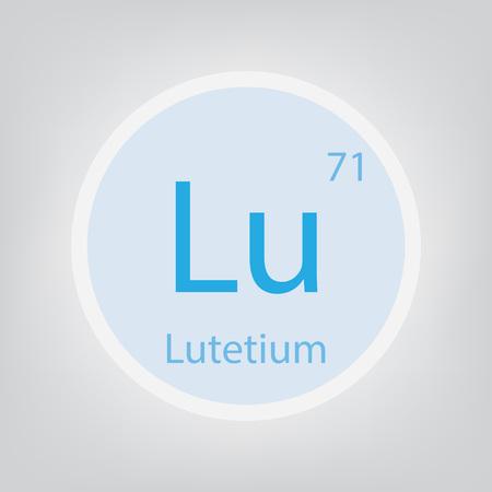 Lutetium Lu chemical element icon- vector illustration