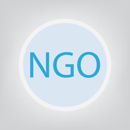 NGO (Non-Governmental Organization) - vector illustration 矢量图像
