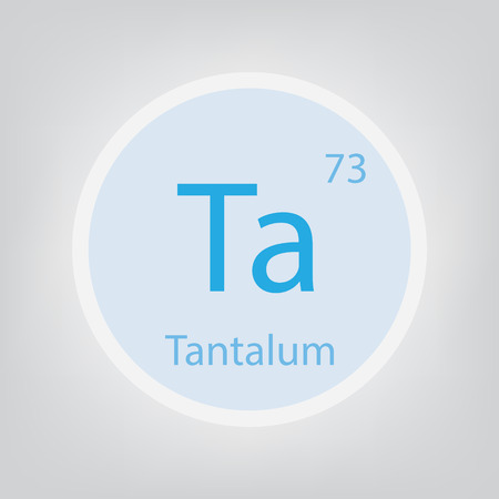 Tantalum. This chemical element icon- vector illustration Banco de Imagens - 103579633