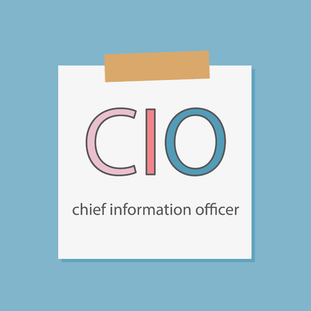 CIO Chief Information Officer written in a notebook paper- vector illustration
