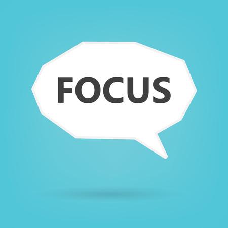 focus written on speech bubble- vector illustration