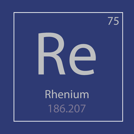 Rhenium Re chemical element icon- vector illustration 일러스트