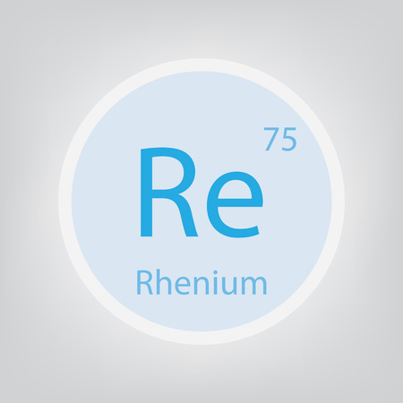 Rhenium Re chemical element icon- vector illustration Banco de Imagens - 103579686