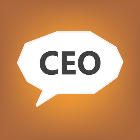 CEO (Chief Executive Officer) written on speech bubble- vector illustration