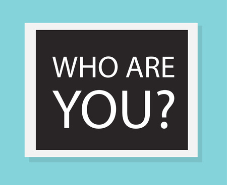 who are you concept- vector illustration